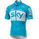 Castelli Team Sky Fan 18 SS Jersey Full Zip Men sky blue